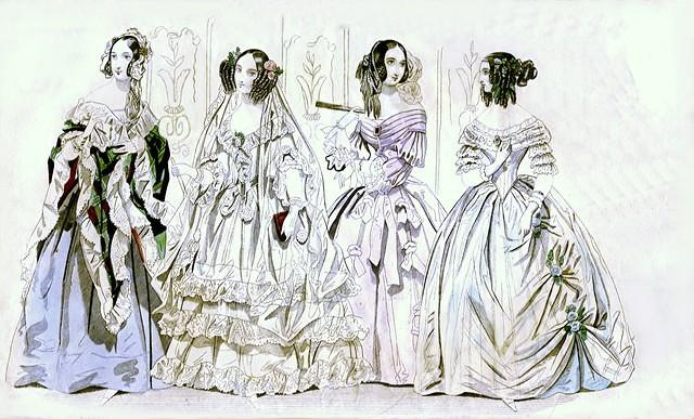 3775994253 cc134c1623 1840 Wedding and Ball Gowns - Godey s Lady s Book O