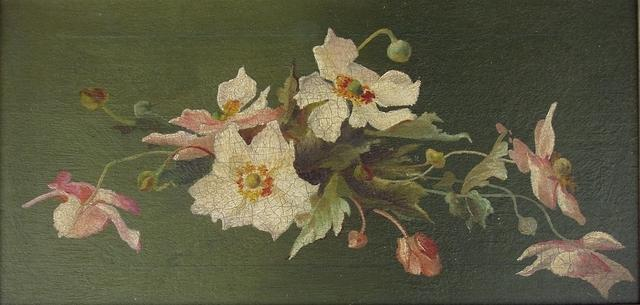4395771108 0573faedb3 Victorian oil painting of flowers unsigned O