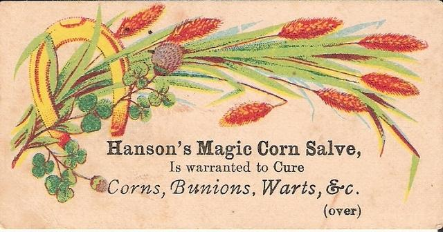 Victorian Trade Card - Hanson s Magic Corn Salve O
