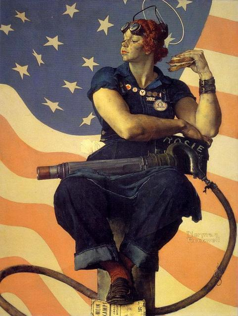 413887586 ebdab674a5 Norman Rockwell~Rosie the Riveter 1943 O