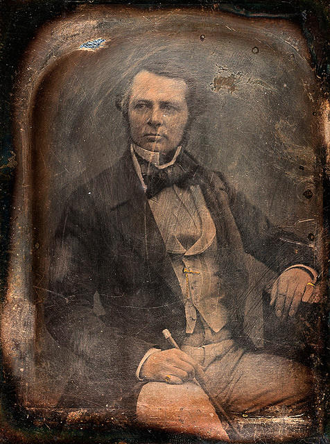 3321639475 b42700ed4b Daguerreotype of unknown man resembling John Ruskin by Claudet improved O