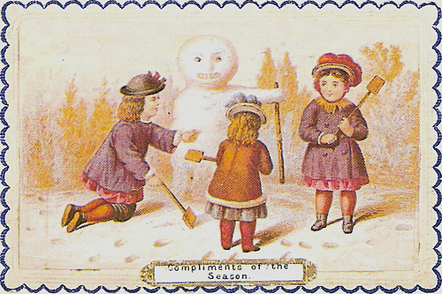 4188610820 0cf681bc83 COMPLIMENTS OF THE SEASON VINTAGE CHRISTMAS CARD x