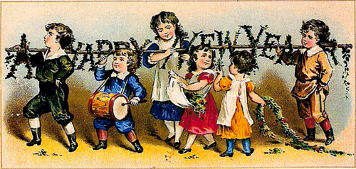 4188614434 57d3eeb4cc HAPPY NEW YEAR VINTAGE CARD x