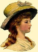 3446233839 0f792a9b3d DieCut Lady with Straw Bonnet O