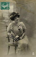 Vintage Ladies Cabinet Cards (285)