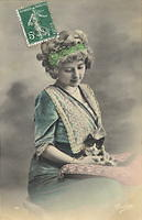Vintage Ladies Cabinet Cards (51)