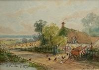 3980352137 1647cbe21a Original watercolour by E Norton of a cornish cottage late 1800s O
