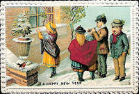4187856617 7d55459ed3 HAPPY NEW YEAR VINTAGE CARD x