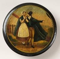 4343462766 cc753355c4 Running Away Victorian japanned snuff box LP81 O